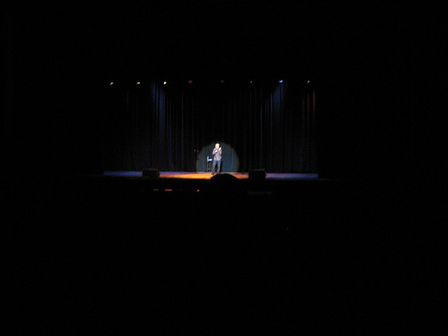 Bill Maher on stage at the Palace