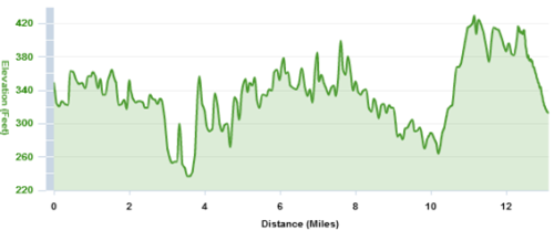 Saratoga Palio Course Elevation