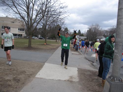 gabe @ finish of shamrock shuffle 2010